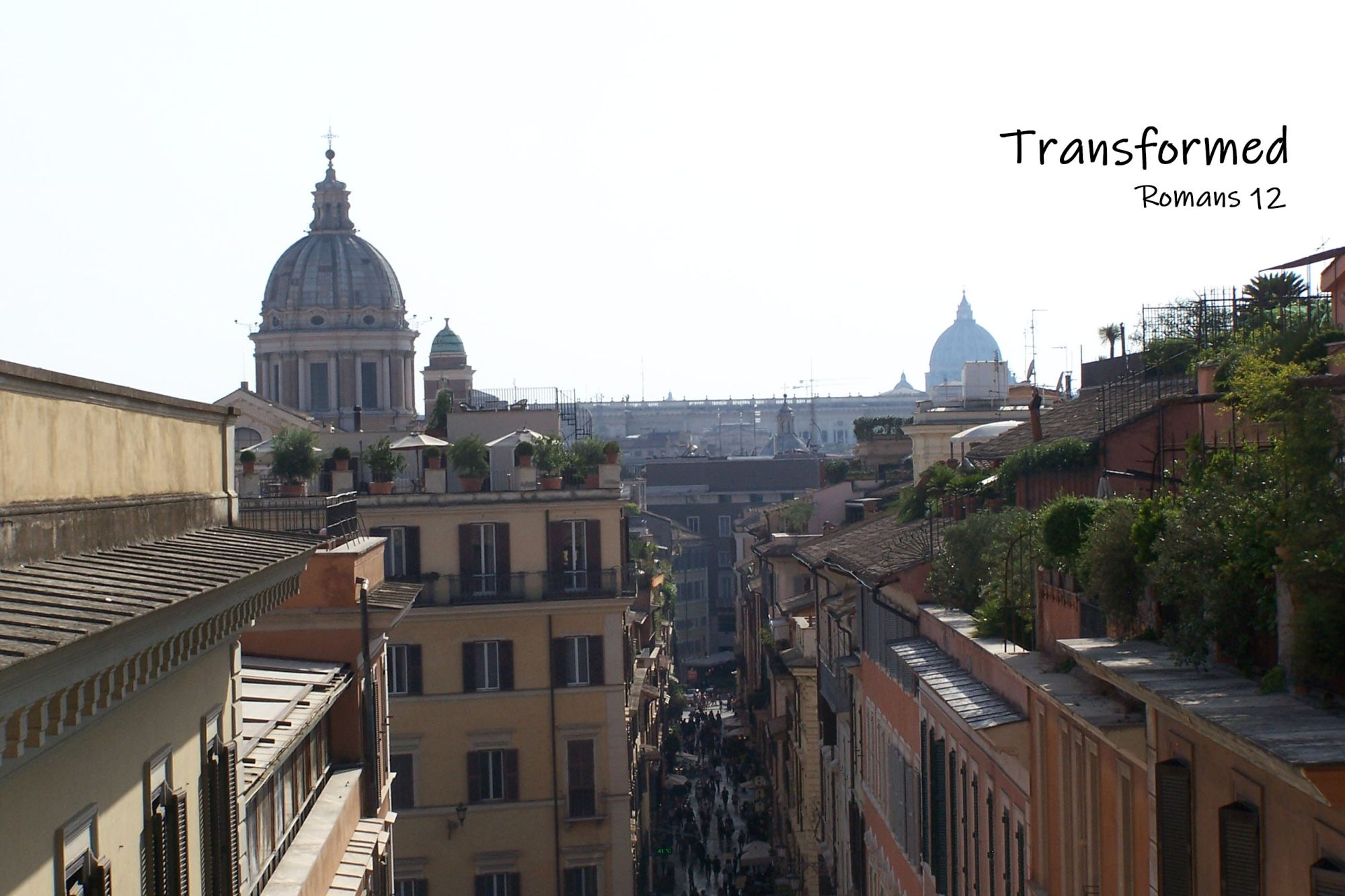 Transformed - Romans 12 - Rome Skyline